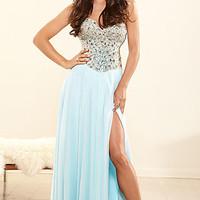 Beaded Corset Style Evening Gown by Terani