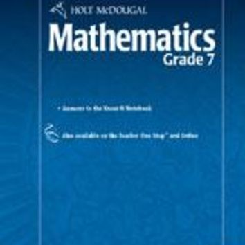 Holt McDougal Mathematics Know-It Notebook Teacher's Guide Grade 7