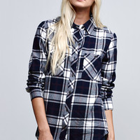 LA Hearts Basic Plaid Button-Down Shirt at PacSun.com