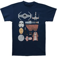Star Wars Men's  The Essentials T-shirt Navy Rockabilia