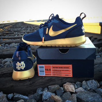 CUSTOM Authentic Nike Notre Dame Roshe Run