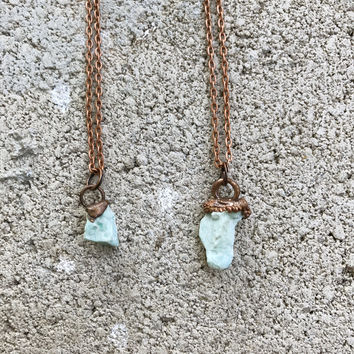 Raw Amazonite Necklace