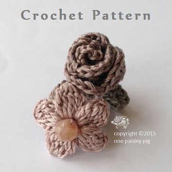 Crochet Flower Rings - Daisy & Rose - PDF CROCHET PATTERN