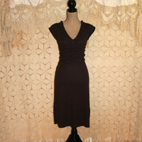 Dark Blue Short Sleeve Edgy Dress Sexy Dress Day Dress Fitted Ruching Cap Sleeve Diamond Print Express Size 0/2/4 XS Small Womens Clothing