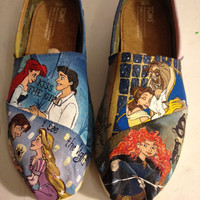 Custom Hand-Painted Shoes: Disney Princesses