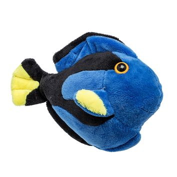"Single Blue Tang Fish Mini 4"" Small Stuffed Animal, Ocean Animal Toy, Sea Party Favor for Kids"