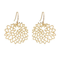 Medium Dahlia Earrings