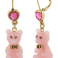 HEART CANDY BEAR DROP EARRNG