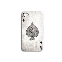 Ace of Spades Playing Card Phone Case Cute Cover iPhone iPod White Black Cool