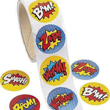 Superhero Sticker Roll - 100 pieces…