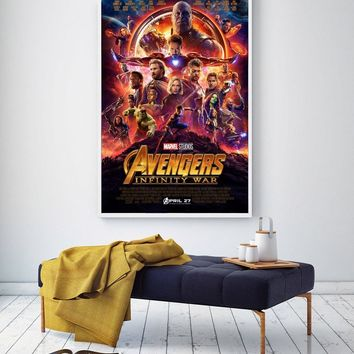 Avengers Infinity War Marvel 2018 Hot Movie Art Poster Silk Painting Print Home Decor For Wall