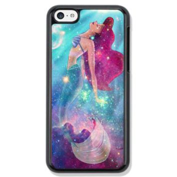 Vogueline Ariel Little Mermaid galaxies Design Hard Case Cover Skin for iphone 6 case iphone 6plus iphone 5 5s 4 4s iphone 5c Samsung Galaxy S5 S3 S4 note 2 note3 note4 (Case for iPhone 6(Black Hard))