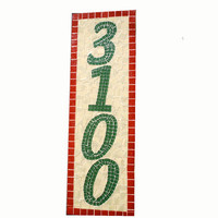 Mosaic House Numbers, Outdoor Address Sign