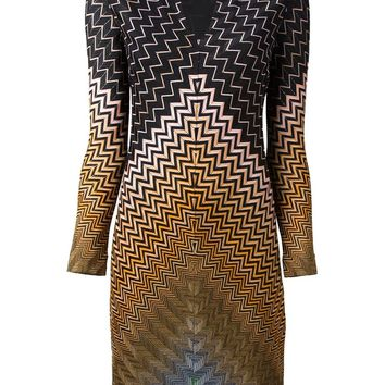 Missoni zig zag crochet knit dress