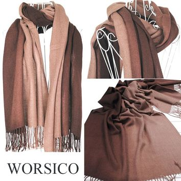 winter scarf women blanket gradient color scarf