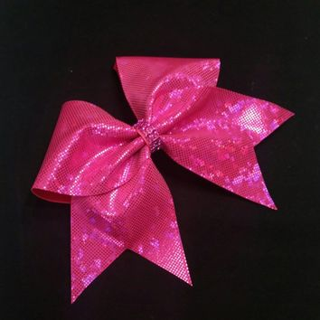 Dark Pink cheer bow, Cheer bow, cheerleading bow, cheerleader bow, cheerbow, softball bow,  cheer bows, dance bow, big bow, shattered glass