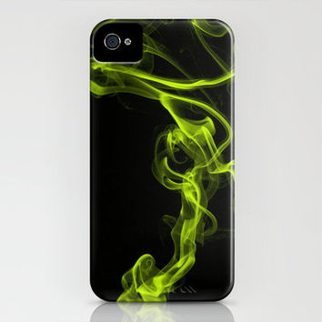 Smoke 6 Yellow iPhone Case by Steve Purnell | Society6