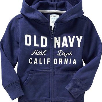 Old Navy Logo Zip Front Hoodies For Baby