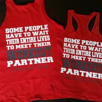 Workout Wifey. Workout Hubby Couples Workout Partner Tanks or Tshirts. Couples Swole Mates gym Shirts. Couples shirts. Couples Fitness tanks