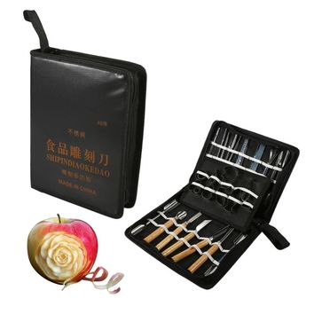 46 Piece Fruit and Veggie Carving Tool Kit