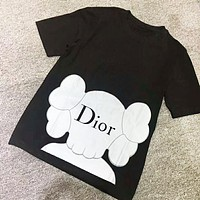 Dior & Kaw New Fashion Print Women Men Top T-Shirt Black