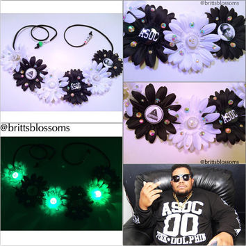 ASOC inspired LED Blossom, Flower Halo, Flower crown, Flower headband, Festival, Hippie Headband, Coachella, Rave, Bridal