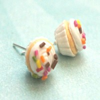 confetti cupcake stud earrings