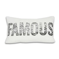Famous Pillow - Silver