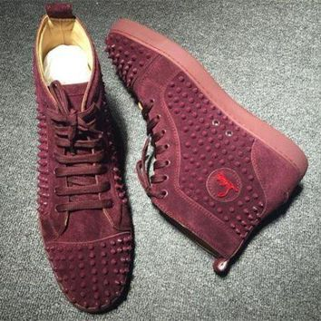 DCCK Cl Christian Louboutin Louis Spikes Style #1873 Sneakers Fashion Shoes