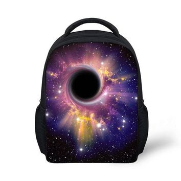 Cool Backpack school Customized Images Black Hole Pattern Backpacks Kindergarten Backpack bag Cool Print mochila Men Bags Universe Landscape AT_52_3