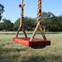 Large Red Tree Swing