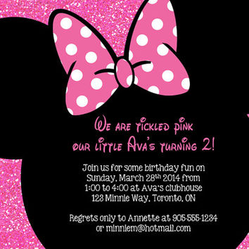 Shop minnie mouse birthday invitations on wanelo minnie mouse birthday party invitation personalized minnie mou filmwisefo
