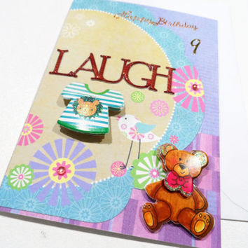 Cards - Birthday Cards - Handmade Cards - Any occasion cards - Made in Australia - unique cards - Happy Birthday 9th