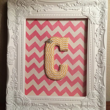 Custom Made Decorative Letters in Frame-by Tightly Wound Designs