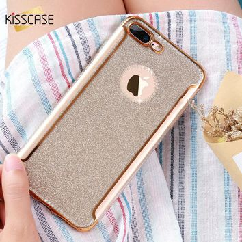 2017 KISSCASE Cute Fashion Jewelled Rhinestone Case For iPhone 7 7 6 6s Plus Case for iPhone 5s 5 SE Luxury Phone Cover Conque