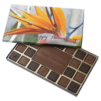 Bird of Paradise Floral Anniversary Assorted Chocolates