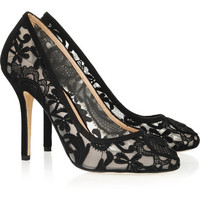 Oscar de la Renta | Lace and satin pumps