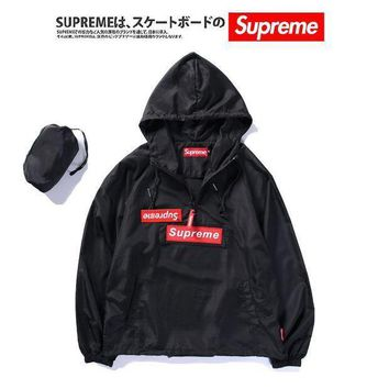 Supreme Rashguard Quick Dry Star Hoodies Windbreaker [11516239628]