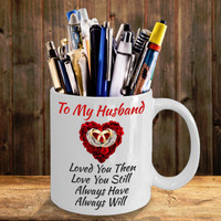 Anniversary Birthday Gifts For Husband Men Him Love My Husband Color Changing & White Coffee Mug Man Women Dad Father Grandfather
