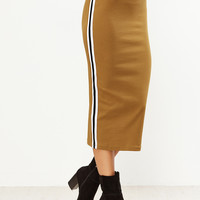 Mustard Side Striped Skirt