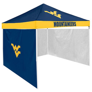 West Virginia Mountaineers NCAA 9' x 9' Economy 2 Logo Pop-Up Canopy Tailgate Tent With Side Wall