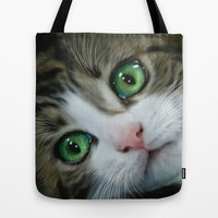 Kitty Cat Tote Bag by Alice Gosling