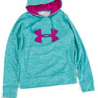 Under Armour Big Logo Applique Twist Hoodie for Women 1257682-400
