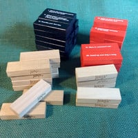 51 Blocks from various games of Jenga - All in very good Condition - Add to - Recycle - Craft - Expand