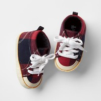 Gap Baby Flannel High Top Shoes