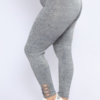 Make You Work For It Leggings - Marled Charcoal