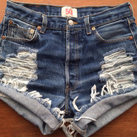 Size 6 Levi's High Waisted Jean Shorts