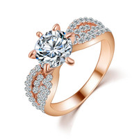 Romantic Wedding Crystal Ring