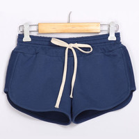 New Fashion Bermuda Feminina Summer Style Candy Color Causal Women Short Pants Low Waist Soft Cotton  Shorts #70596