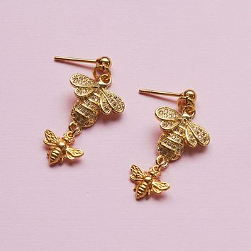 Sweet Honey Bee Earrings